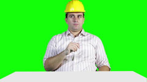 Young Engineer Touchscreen Greenscren 8 Stock Video Footage