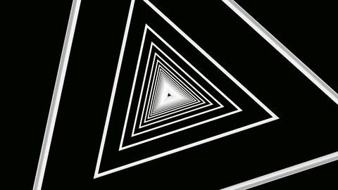 white triangle line Animation