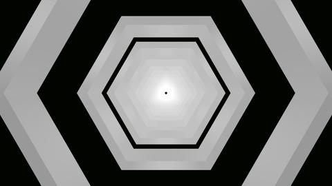 hexagon matte tunnel Stock Video Footage