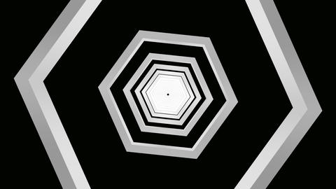 hexagon grey tunnel Animation