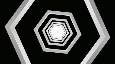 hexagon grey tunnel Animation