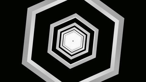 hexagon grey tunnel Stock Video Footage