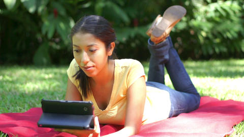 Woman using a tablet Stock Video Footage