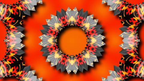 abstract kaleida flower Stock Video Footage