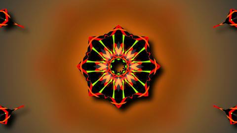 kaleida tribal flower Stock Video Footage
