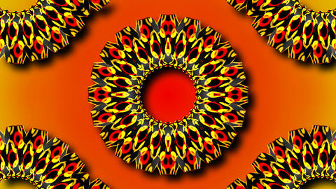 kaleida abstract flower Stock Video Footage