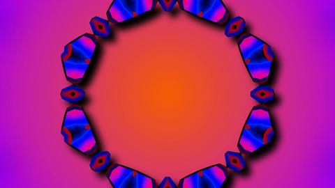 radial hole kaleida Stock Video Footage
