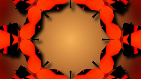 abstract kaleida starlish Stock Video Footage