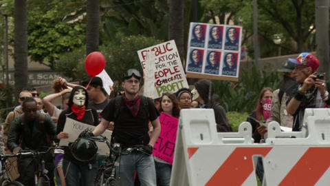 20120501 Occupy LA A 015 Stock Video Footage