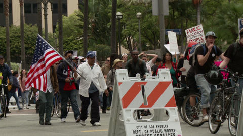 20120501 Occupy LA A 015 stock footage