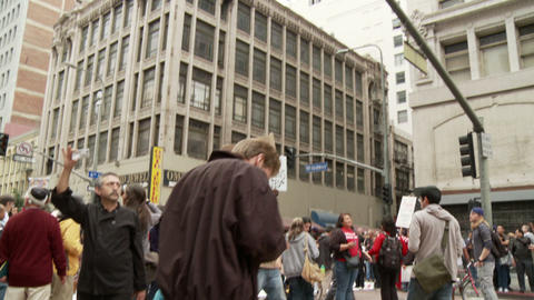 20120501 Occupy LA A 023 Stock Video Footage
