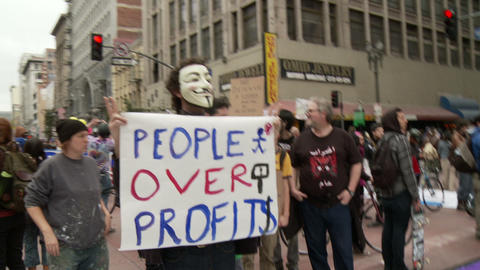 20120501 Occupy LA A 026 Stock Video Footage