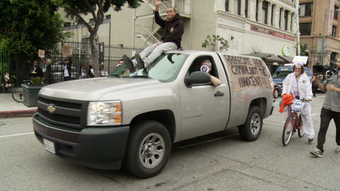 20120501 Occupy LA A 062 Stock Video Footage
