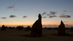 Silhouette of the Pinnacles at Sunset TIme Lapse Stock Video Footage