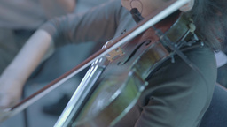 Girl playing the violin Footage