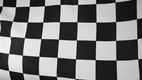 Black and white checkered flag Footage