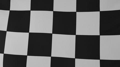 Closeup of a black and white checkered flag Footage