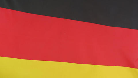 Closeup of a German national flag Footage