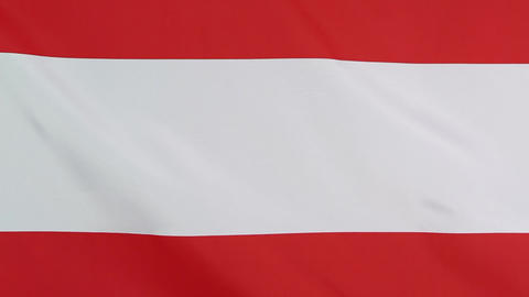 Textile flag of Austria in slow motion Live Action