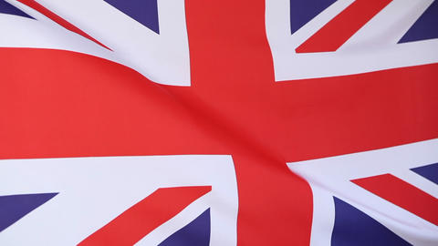Flag of United Kingdom in slow motion Live Action