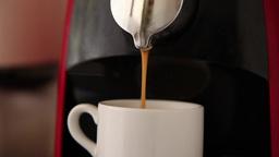 making espresso coffee in espresso machine at restaurant Footage