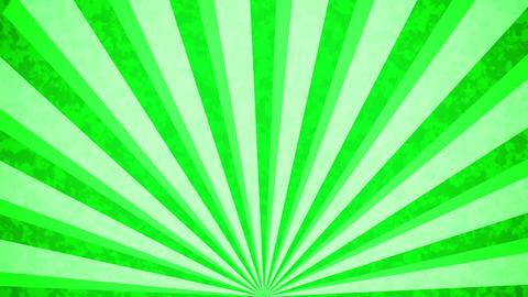 Green Sun burst retro background Animation