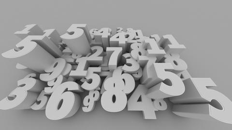Abstract Number Background Animation