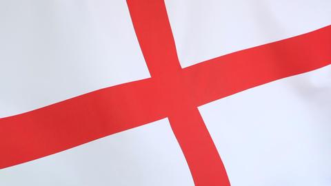 Closeup of a textile flag of England Footage