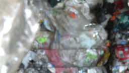 plastic trash to recycle in recycling center Footage