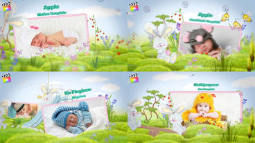 Kids Album Apple Motion Template