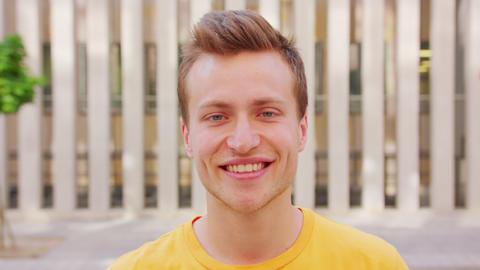 Man Smiling. Emotion Footage