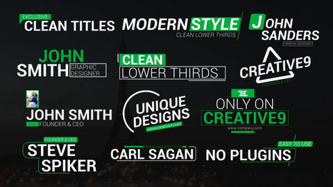 Clean Lower Third Titles After Effects Template