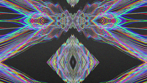 Multi-colored distorted prism reflections holographic background Footage