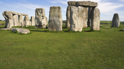 Tilt shot of famous prehistoric monument Stonehenge on a beautiful sunny day Live Action