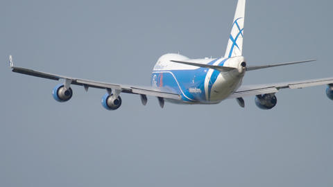 Widebody airfreighter departure Footage