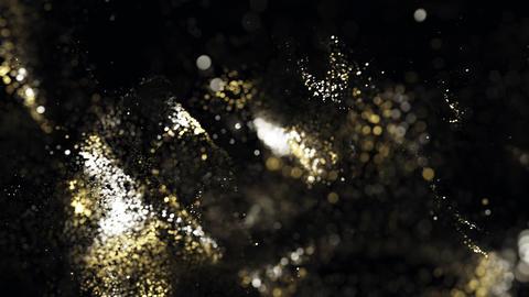 Golden glitter particles bokeh 12 Photo