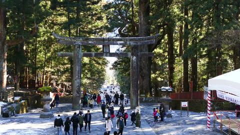 Ishidorii stone gate at Toshogu Shrine Nikko Japan Live影片