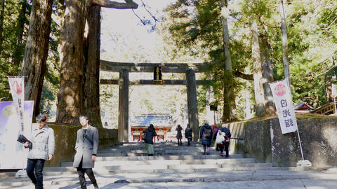 Ishidorii stone gate at Toshogu Shrine Nikko Japan2 Live影片