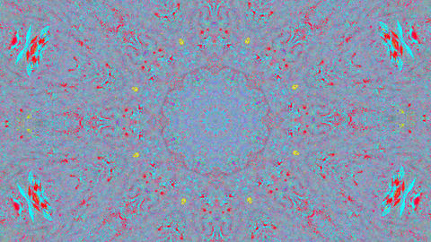 Magical kaleidoscope flare shimmering background Footage