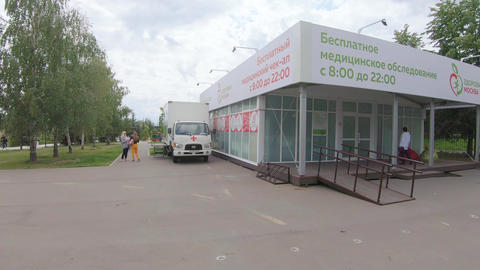 Work Pavilion Healthy Moscow Footage