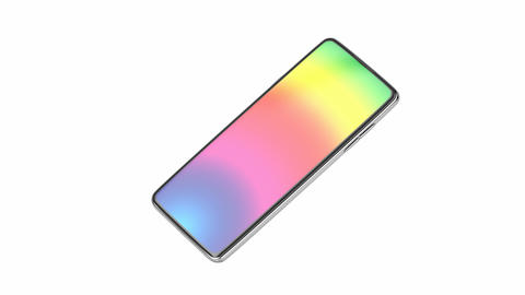 Smartphone with colorful screen Animation