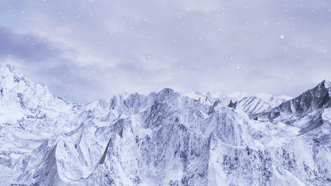 Snow Mountain Background Animation