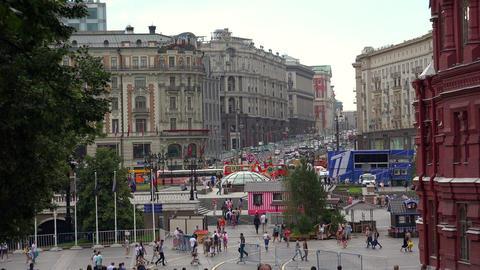 Tverskaya Street in Moscow. 4K Footage