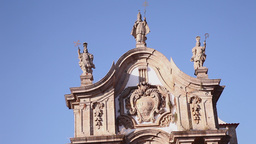 Baroque architecture Church of St. Paul in vila real portugal Footage