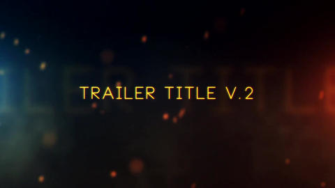 Trailer Title V 2 After Effects Template