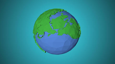 Seamless looping low poly 3d world Animation