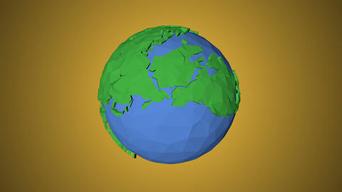 Seamless looping low poly 3d world Videos animados