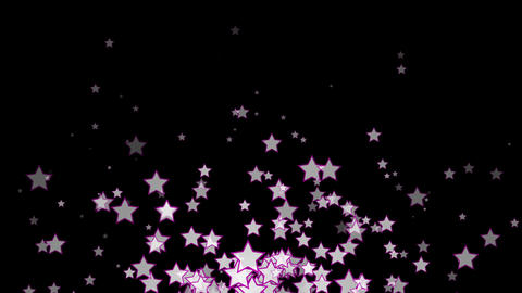 Abstract motion background with stars Animation