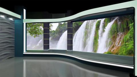 News TV Studio Set 179 - Virtual Background Loop Footage
