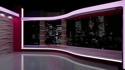 News TV Studio Set 180 - Virtual Background Loop Footage
